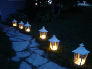 Luminaries for the garden or pathway