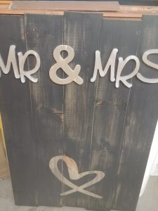 MR and MRS Signage Party Supply Rental