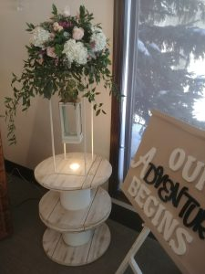 Table Spools for reception and wedding
