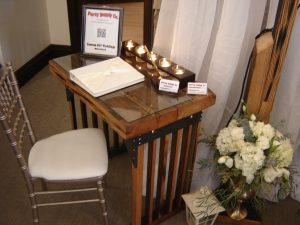 Signing table.