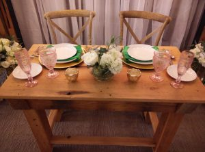 Cross Back Chairs for any theme that requires a wood look. Rustic or wood theme a solid choice.