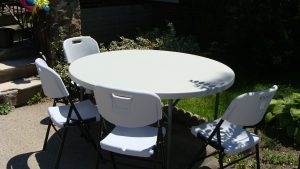 Tables and Chairs resin
