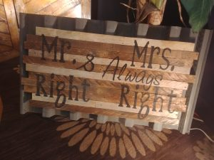 Wedding Signage Mr and Mrs Party Supply Co
