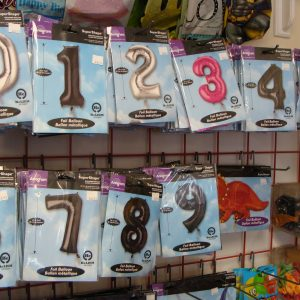 Mylar balloon numbers