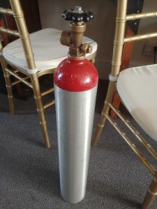 Helium Tanks available in 3 sizes. Ask about M size and Q size.