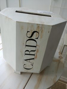 """Rustic White Card Box for """"Best Wishes"""""""